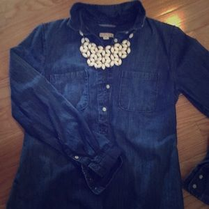 Dark washed jean tunic